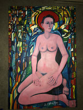 "San Francisco Painter Audrey Gabrielson's ""Stained Glass"" 2003, 36""x24"""