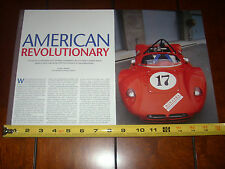 1961 CAMPBELL SPECIAL CORVETTE POWERED SPORTS RACE CAR  - ORIGINAL 2008 ARTICLE