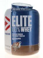 Dymatize Elite 100% Whey Protein / 5 Lbs 63 Servings CAFE MOCHA