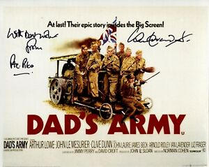 Dads Army comedy movie poster 8x10 photo signed by Ian Lavender as Private Pike