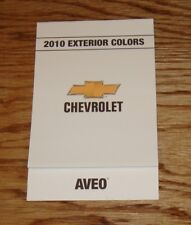 2010 Chevrolet Aveo Exterior Interior Colors Foldout Sales Brochure 10 Chevy