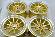 15 gold Wheels Miata Prius C Civic Accord Sonata Jetta Galant 4x100 4x114.3 Rims