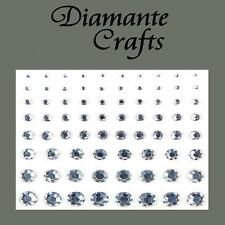 1mm - 8mm Clear Diamante Self Adhesive Rhinestone Body Nail Vajazzle Gems