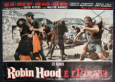 CINEMA-fotobusta ROBIN HOOD E I PIRATI barker, tulli, GIORGIO SIMONELLI