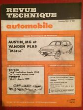 Revue Technique Automobile Austin MG Vanden Plas Metro - Peugeot 504 Ti