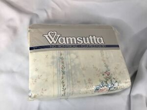 Vintage NOS Wamsutta No Iron Percale 180 thread count 4 piece Full set floral