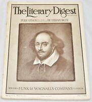 Antique The Literary Digest Magazine, April 15, 1916, Vol. 52, No. 16 - FN