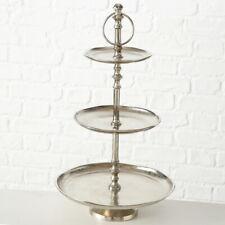 Etagere silber 48 cm hoch 3 Stöckig Vorlegeschale Tortenständer Hochzeit Schale