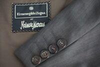 Ermenegildo Zegna Wool Brown Sharkskin Sport Coat Jacket Sz 46L