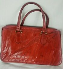 Vintage Eel Skin Purse Red Clutch Small handbag Victory Red Excellent condition