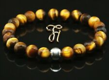 Tigerauge 925er sterling Silber Armband Bracelet Perlenarmband braun 8mm