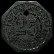 NOTGELD: 25 Pfennig. DEUTSCHE CARBORUNDUM-WERKE REISHOLZ | DÜSSELDORF-BENRATH.