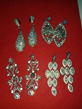 Vintage costume jewelry lot earrings