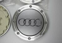 4x148mm AUDI Grey Wheel Center Caps Logo Emblem Badge Rim Hub Caps 4B0601165A