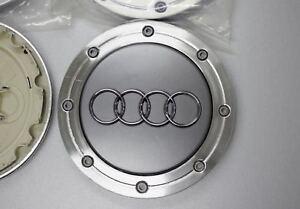 4x148mm AUDI Grey Wheel Center Caps Logo Emblem Badge Rim Hub Caps 4B0601165A