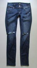 HUDSON Collin Signature Skinny Flap Pocket Jean in Vina Distressed - Size 26