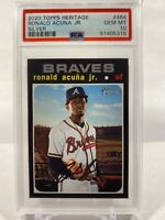 2020 Topps Heritage Ronald Acuna Jr Silver #464 PSA 10 GEM MINT - Braves.  Pop 8