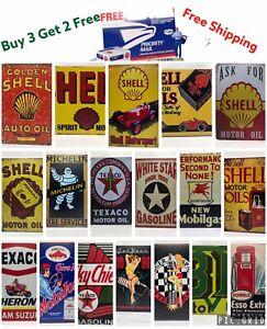Oil Vintage Retro Tin Signs Wall Decor Metal oil company Poster Club Tavern Shop