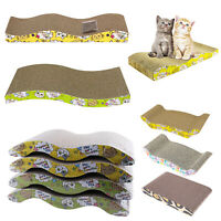 Cat Kitten Cardboard Corrugated Scratcher Scratching Pad Sofa Bed Board Mat