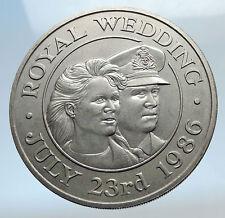 1986 ST HELENA & ASCENSION ISLANDS Prince Andrew Sarah Ferguson Wed Coin i74173