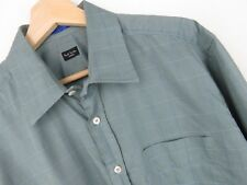rp2378 PAUL SMITH Camisa top Vintage Verde Cuadros ORIGINAL PREMIUM TALLA 43/17
