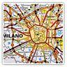 2 x Square Stickers 7.5 cm - Milan Milano Italy Italian Travel Map  #45723
