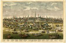 Rare Antique Print-CANAL-SAN MARCO-CITY HALL-VENICE-ITALY-Probst-ca. 1760