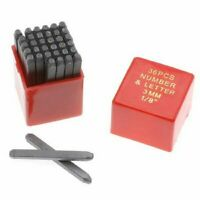 "1/8"" Letter & Number Stamp & Punch Set Heavy Duty Black Tempered Steel in Case"