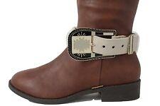 Women Boot Bracelet Metal Belt Buckle Anklet Fashion Shoe Charm Cream Strap Cool