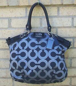 Coach 18635 Madison Logo Glitter Art Satchel Shoulder Handbag