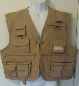 White River Fly Shop Fishing Vest Shorty XXL 100% Cotton Pockets Khaki  NWOT 2XL