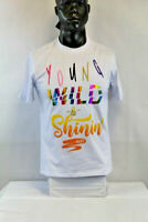 BKYS S/S YOUNG WILD SHININ T-SHIRT WHITE/MULTICOLOR 204447