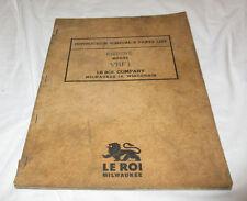 VTG Le Roi Parts & Instruction Book VRF1 VRF 1 Engine 1946 L Head Booklet Manual