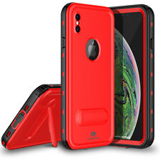 For Apple iPhone Xs Max Case Waterproof Shockproof Dirtproof Cover w/ Kickstand