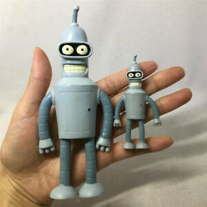2pcs NJ Croce Futurama Bender Robot Figure Bendable Posable Toy Gift Model