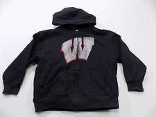 Nice Wisconsin Badgers Heavy Hooded Sweatshirt Youth Size Medium