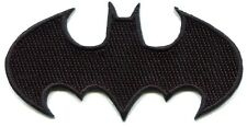 BATMAN black bat logo EMBROIDERED IRON-ON PATCH dc comics **FREE SHIP** c pdc122