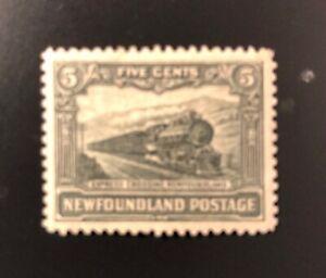Stamps Canada Newfoundland Sc167 6c slate gren Express Train see description