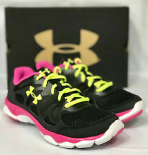 Girls UA GGS Micro G Engage Running Shoe Youth Size 5.5Y 1245161-002