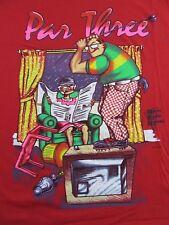 Vintage '91 PAR THREE Funny GOLF Humor Souvenir Red SS T Shirt Size L