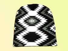 Chaud Bonnet Femme Chapeau Bonnet de Ski Bonnet D'Hiver Gr. L Noir Blanc Neuf