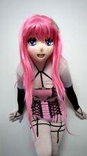 Kigurumi Cosplay  sexy female latex MASK transgender crossdresser