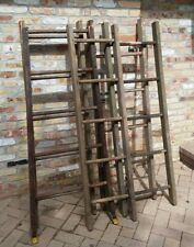 Rustic Vintage Old Wooden Ladder 5 Ft - for use in decorating. Round rung wood