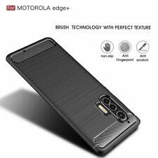 For Motorola Moto Edge+ Plus Shockproof Carbon Fiber Soft TPU Matte Case Cover