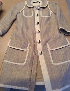 Maurizio Pecoraro Knee Length Cotton/Silk Jacket - Perfect For  Fall Wardrobe