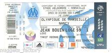 Billet / Place Olympique de Marseille - OM vs Nancy - 2008 ( 001 )