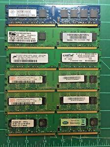PC2-5300 667 MHZ 1GB DDR2 Ram Desktop Memory LOT - 1GB sticks x 6 - 6GB total