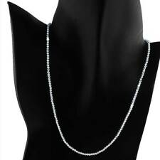 "20""  BEAD  CHAIN__SILVER  NECKLACE__2.5mm__925 STERLING SILVER"