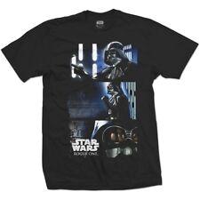 Star Wars Mens Black T-shirt Rogue One Darth Triptych XL - Tshirt