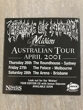 Cradle Of Filth Sticker Midian 2001 Australian Tour Promo Shock Records
